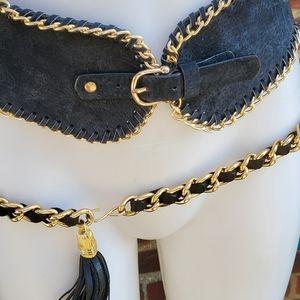 Vintage Double chain belt.M